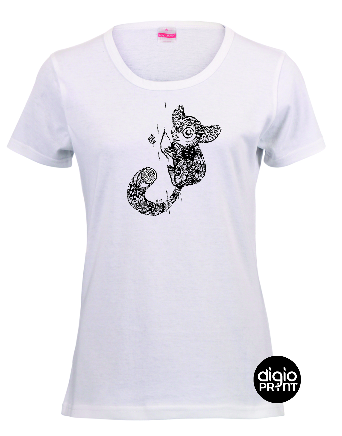 Yana Galago Ladies Fitted T-shirt
