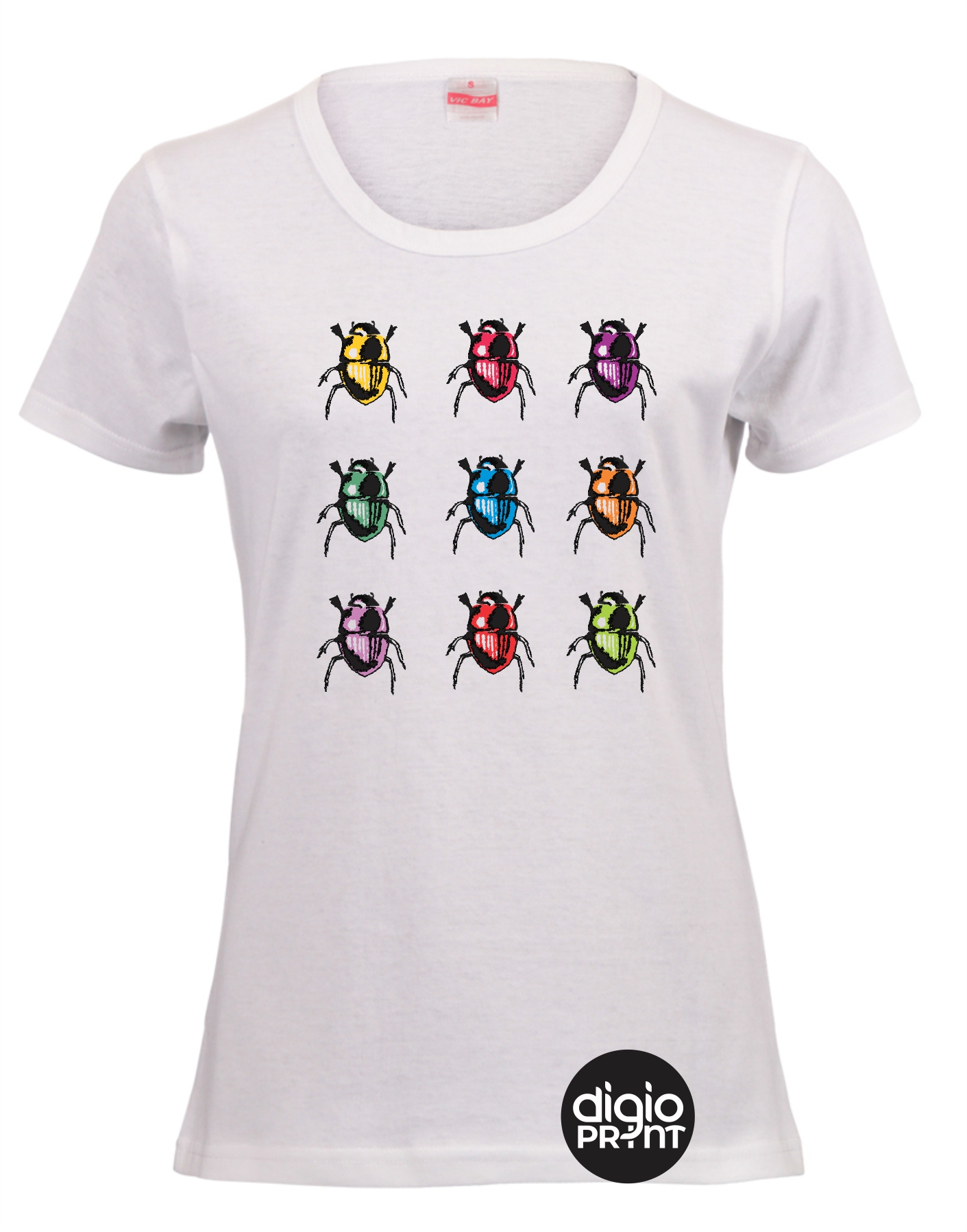 Beetles multi ladies fitted t-shirt