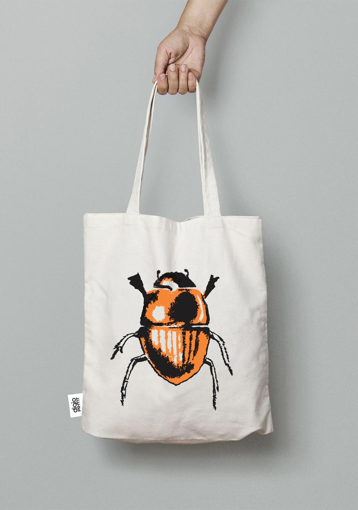 Beetles single tote bag