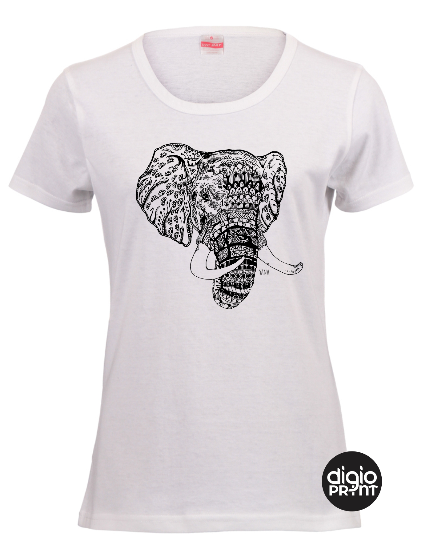 Yana Elephant Fitted T-shirt