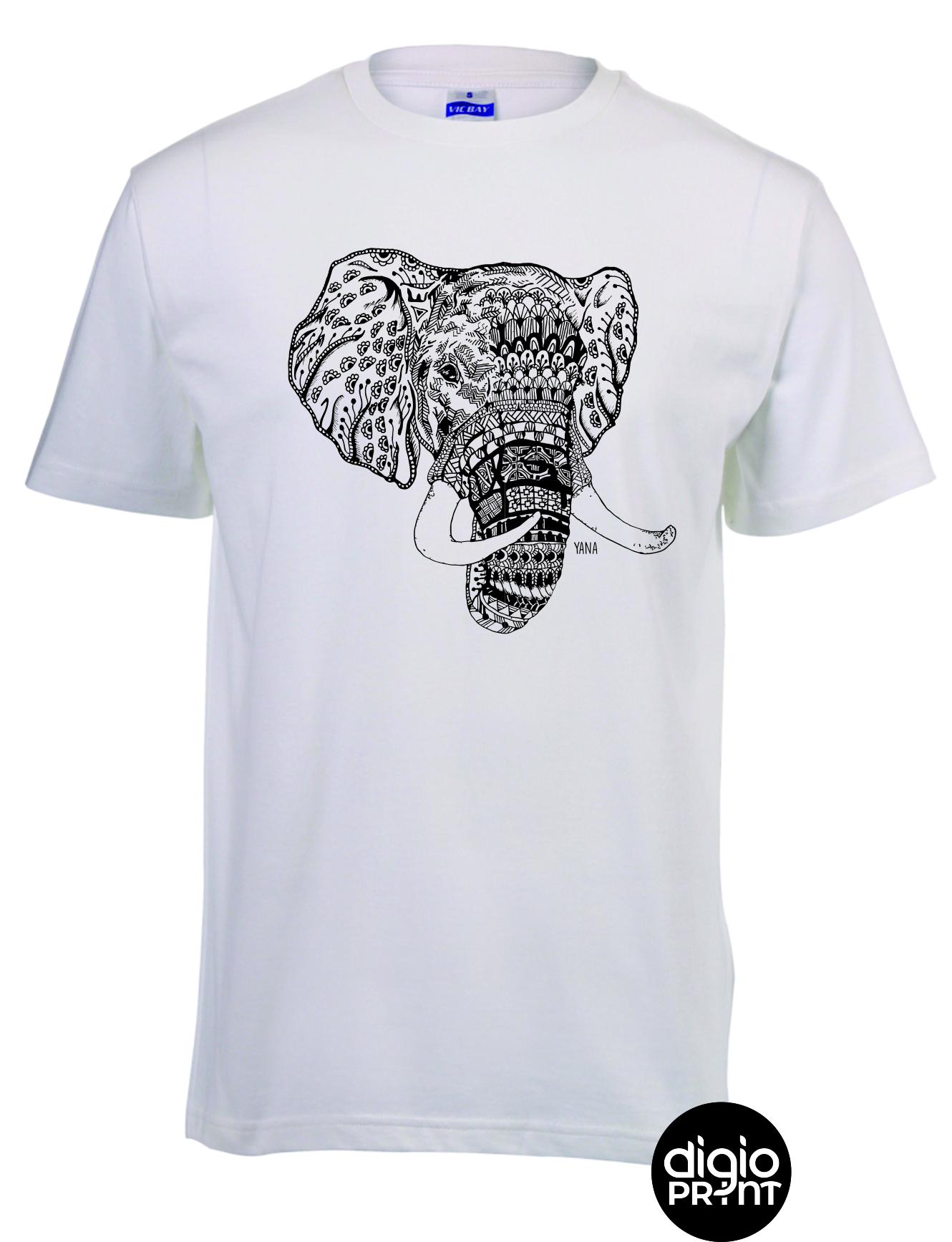 Yana Elephant Round Neck T-shirt